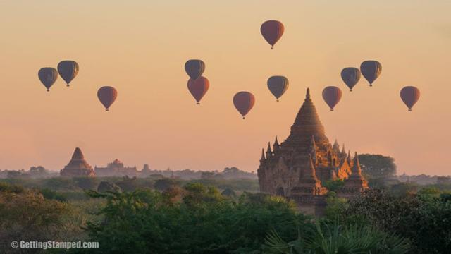 Myanmar-Began sunrise