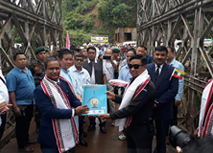 Myanmar-India border opened in Tamu